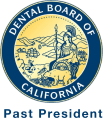Past president Dental Board of California logo